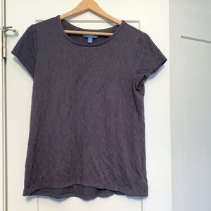 Simply Vera, Vera Wang T shirt, gray, medium